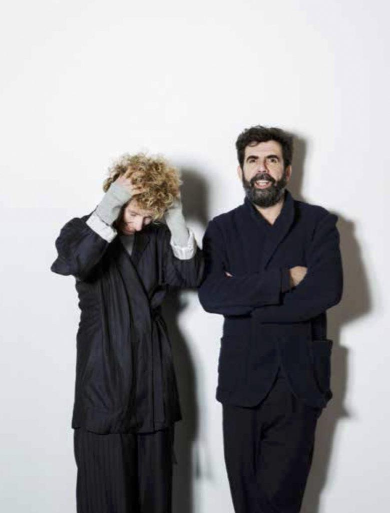 Portrait photograph of Norway designers Jannicke Kråkvik and Alessandro D'Orazio