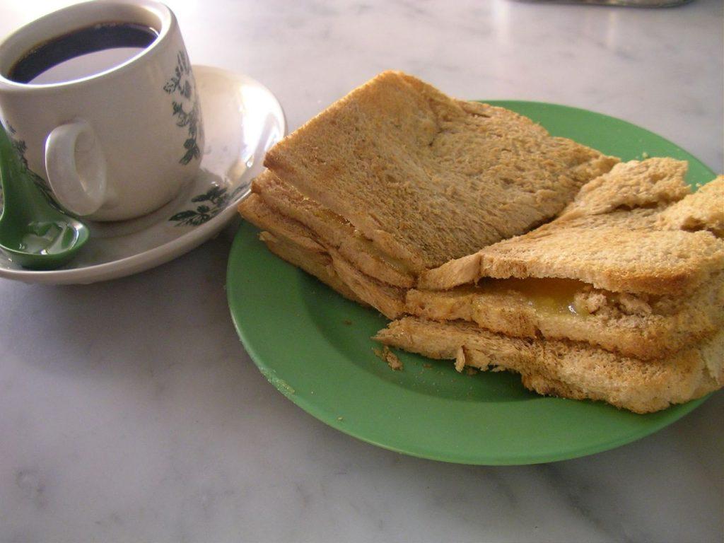 Laksa and coffee Singapore style