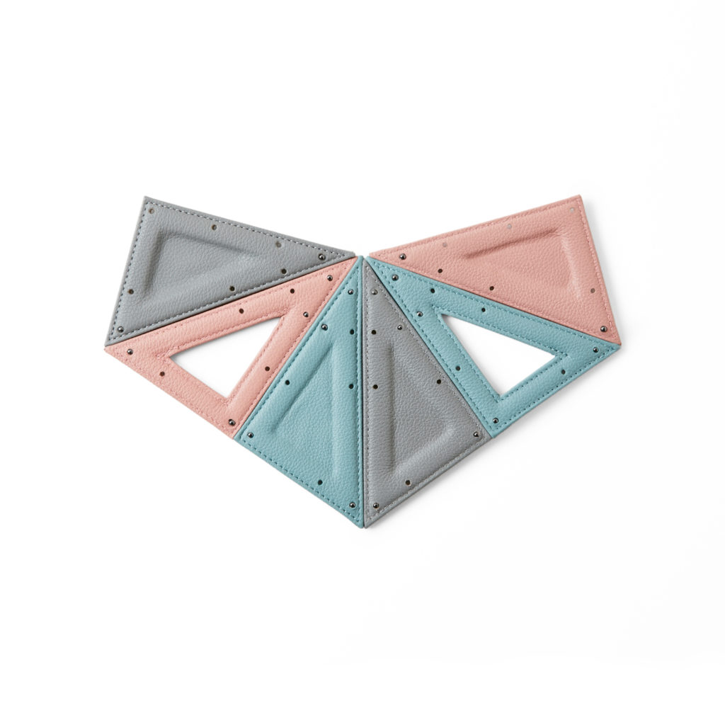modular necklace in pastel