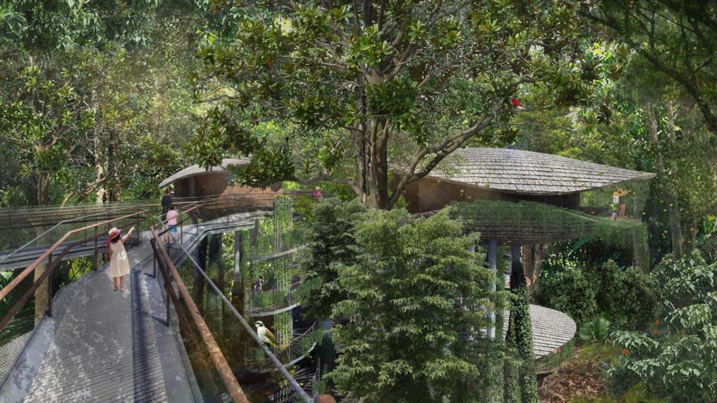 Render of Mandai Resort Singapore landscape