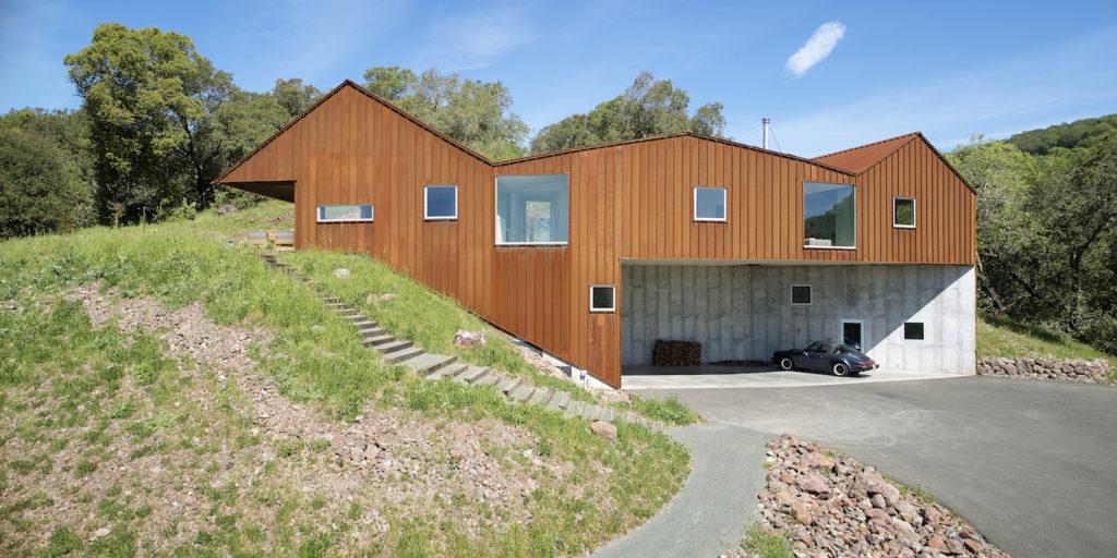 Triple Barn House facade