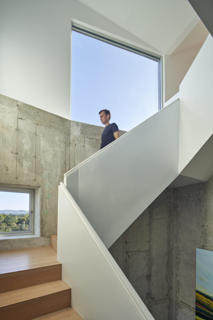 Staircase and picture window