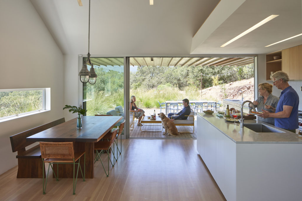 Triple Barn House kitchen area